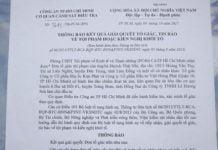 Thông báo của Cơ quan CSĐT Công an TP.Hồ Chí Minh.