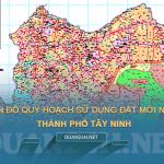 Tải về bản đồ quy hoạch sử dụng đất Thành phố Tây Ninh