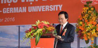 Bộ trưởng Phùng Xuân Nhạ phát biểu tại lễ khởi công