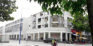 Văn phòng đại diện Quang Phúc đang hoàn thiện tại Lô F1, Khu phố thương mại Lý Thái Tổ