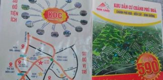 Công ty Địa ốc Nam Land tự vẽ sơ đồ dự án rồi rao bán.