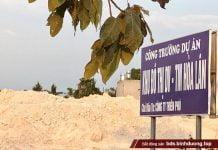 Thiên Phú vừa cắm bảng tại dự án mà Thiên Phú đã giao Agribank Chợ Lớn bán đấu giá để thu hồi nợ xấu - Ảnh: Thu Thảo
