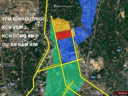 Vị trí dự án Khu nhà ở thương mại Hòa Phú