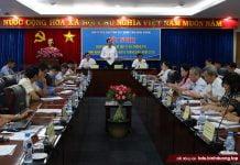 Đại diện UBND tỉnh Bình Dương phát biểu khai mạc hội nghị.