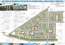 Bản vẽ quy hoạch tỉ lệ 1/500 của Khu dân cư, tái định cư tại xã Lộc An- Bình Sơn
