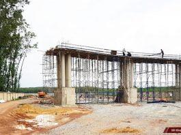 Cổng dự án Hana Garden Mall ngày 08/07/2019