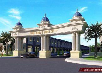 Cổng dự án Hana Garden Mall (Khu nhà ở Bình Mỹ 2)