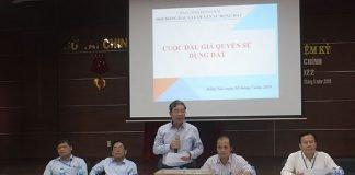 Phó chủ tịch UBND tỉnh Nguyễn Quốc Hùng phát biểu tại buổi đấu giá khu đất công huyện Long Thành