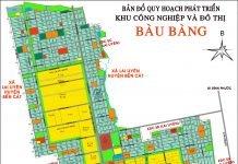 Bản đồ quy hoạch Khu công nghiệp và đô thị Bàu Bàng mới nhất