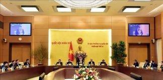Phó Chủ tịch Quốc hội Uông Chu Lưu chủ trì và phát biểu bế mạc Phiên họp thứ 41 của Ủy ban Thường vụ Quốc hội. Ảnh: Trọng Đức/TTXVN