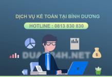 Dịch vụ kế toán, khai báo thuế tại Bình Dương chuyên nghiệp giá rẻ