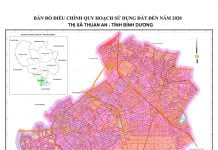 Bản đồ Quy hoạch sử dụng đất đến năm 2020 của Thuận An (Bình Dương)