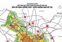 Bản đồ định hướng phát triển không gian đô thị Tp. Hồ Chí Minh đến năm 2025