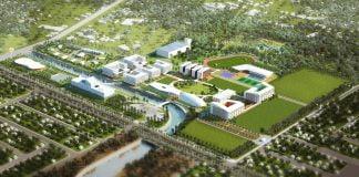 Phối cảnh tổng thể dự án Đại học quốc tế Việt Đức
