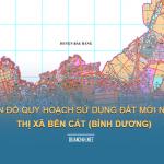 Tải về bản đồ quy hoạch sử dụng đất Thị xã Bến Cát (Bình Dương)