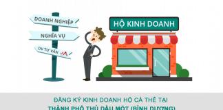 Đăng ký hộ kinh doanh cá thể (hộ gia đình) tại Thành phố Thủ Dầu Một