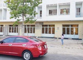 Bán nhà 1 trệt 3 lầu, mặt tiền đường Mỹ Phước Tân Vạn (KCN Mỹ Phước 3)