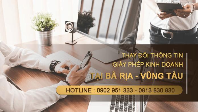 Dịch vụ giấy phép đăng ký kinh doanh tại Bà Rịa - Vũng Tàu