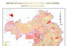 Bản đồ sử dụng đất huyện Bắc Tân Uyên