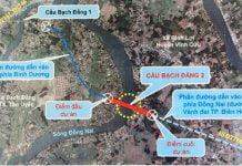 Vị trí cầu Bạch Đằng 2 nối Thị xã Tân Uyên (Bình Dương) với huyện Vĩnh Cửu (Đồng Nai)
