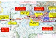 Bản đồ Dự án thành phần 2 (đoạn 2A, 2B) thuộc Dự án đầu tư xây dựng đoạn Tân Vạn – Nhơn Trạch
