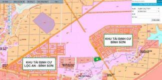 Vị trí dự án Tái định cư Lộc An - Bình Sơn