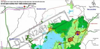 Bản đồ quy hoạch phát triển không gian vùng tỉnh Đồng Nai