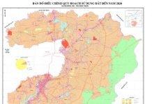 Bản đồ điều chỉnh quy hoạch sử dụng đất đến năm 2020 huyện Đồng Phú