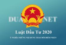 Luật Đầu tư 2020 được Quốc Hội thông qua vào ngày 17/6/2020