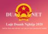 Luật Doanh Nghiệp 2020 dự kiến có hiệu lực từ ngày 01/01/2021.