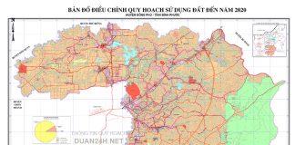 Quy hoạch sử dụng đất huyện Đồng Phú (Bình Phước) cập nhật mới