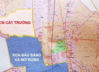 Vị trí Khu công nghiệp Bàu Bàng và Khu công nghiệp Cây Trường