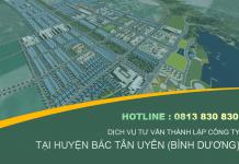 Dịch vụ tư vấn đăng ký kinh doanh, thành lập công ty tại Bắc Tân Uyên (Bình Dương)