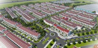 Phối cảnh tổng thể Nhà phố Vườn Thiên Đàng (Ecolakes Mỹ Phước)