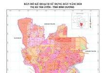 Bản đồ quy hoạch sử dụng đất Thị xã Tân Uyên (Bình Dương) năm 2020
