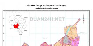 Bản đồ quy hoạch sử dụng đất Thị xã Bến Cát (Bình Dương) năm 2020