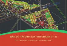 Bản đồ Khu tái định cư Phú Chánh C, D Thành phố mới Bình Dương