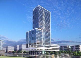 Phối cảnh tổng thể Tòa nhà văn phòng Becamex Thành phố mới Bình Dương