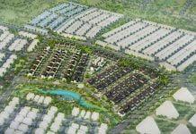 Phối cảnh tổng thể Khu biệt thự Thung Lung Giấc Mơ R4A - Ecolakes Mỹ Phước