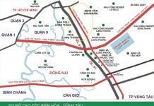 Sơ đồ dự án Cao tốc Biên Hòa - Vũng Tàu