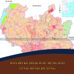 Bảm đồ kế hoạch sử dụng đất tỉnh Bình Dương