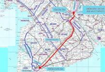 Sơ đô toàn tuyến dự án Cao tốc Cần Thơ - Cà Mau