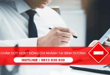Dịch vụ tư vấn chấm dứt hoạt động chi nhánh công ty tại Bình Dương