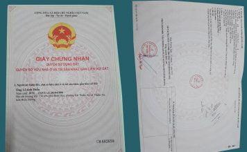Sổ hồng nhà mặt tiền đường Lái Thiêu 14, Thuận An, Bình Dương