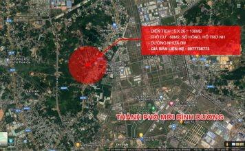 Bán lô đất sổ hồng, 130 m2 ngay ngã ba Phú Hòa, thành phố mới Bình Dương