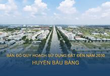 Quy hoạch sử dụng đất huyện Bàu Bàng (Bình Dương) đến năm 2030
