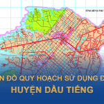 Bản đồ kế hoạch sử dụng đất huyện Dầu Tiếng (Bình Dương) cập nhật mới nhất