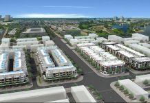 Phối cảnh khu Block A - B - C - D dự án Nhà phố BCE Thành phố mới Bình Dương