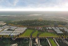 Hình ảnh phối cảnh tổng thể Dự án Khu nhà ở Long Sơn 1