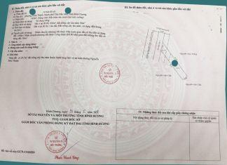 Sổ hồng lô đất 162m2 mặt tiền đường Nguyễn Đức Thuận (TP Thủ Dầu Một)